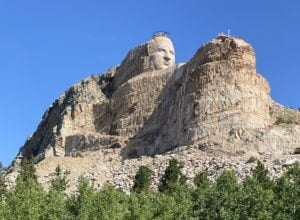 The Crazy Horse Memorial is nearby and a must visit.